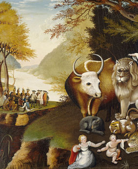 Edward Hicks Peaceable Kingdom - Ausschnitt